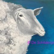 Creatempel schilderij klanten workshop schilderen schaap