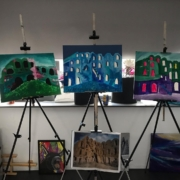 Creatempel schilderij klanten workshop abstract schilderen