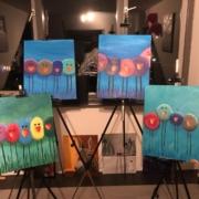Creatempel schilderij klanten workshop schilderen Vogels