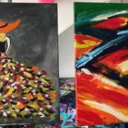 Creatempel schilderij klanten workshop schilderen