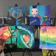 Creatempel schilderij klanten workshop schilderen verjaardag