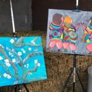 Creatempel schilderij klanten workshop schilderen familie
