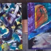 Creatempel schilderij klanten workshop schilderen abstract