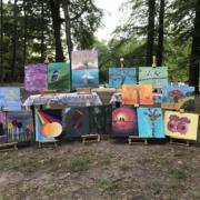 Creatempel schilderij klanten workshop schilderen groep