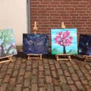 Creatempel schilderij klanten workshop schilderen vriendinnen